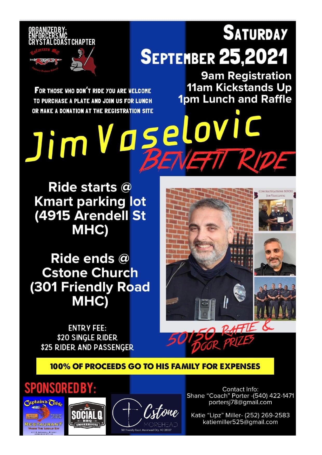 Enforcers MC Crystal Coast Chapter Jim Vaselovic Memorial Ride