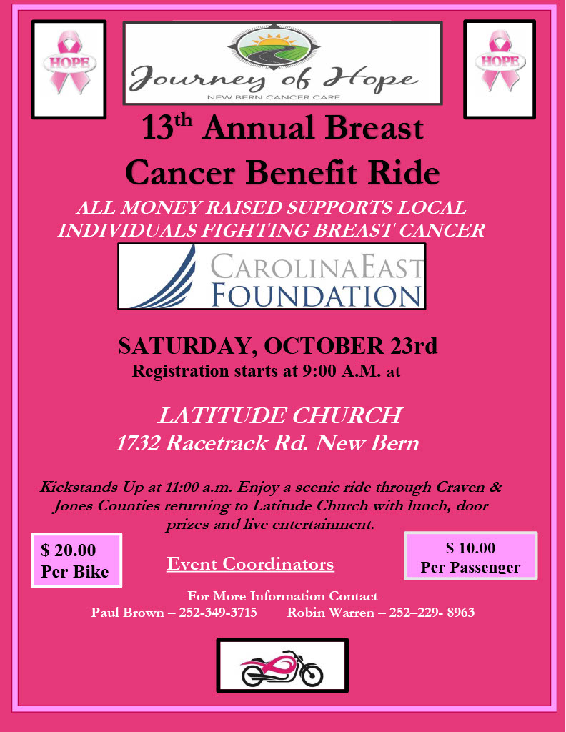 13th Annual Journey of Hope Breast Cancer Benefit Ride