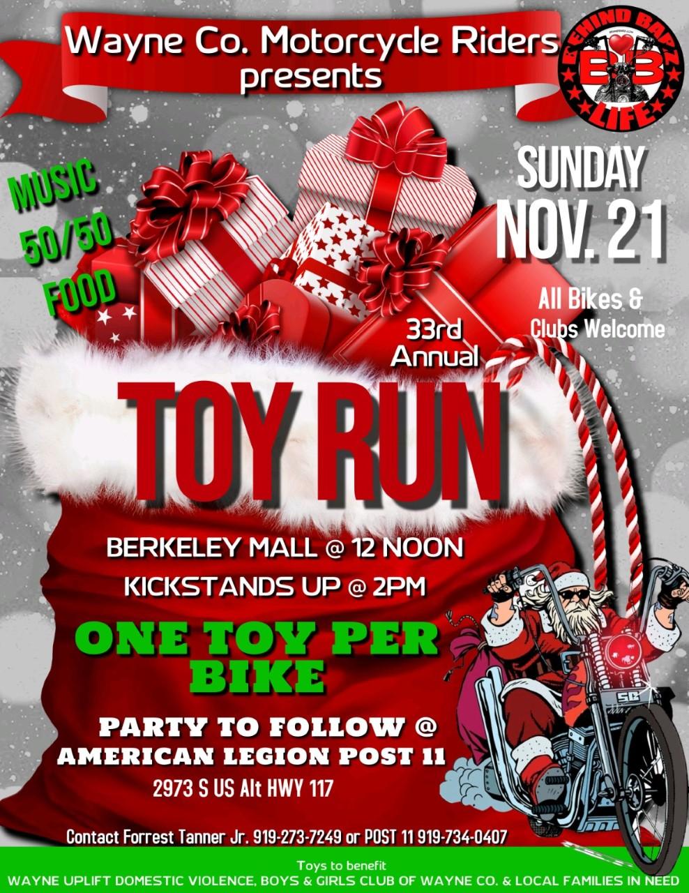 33rd Annual Wayne County Toy Run