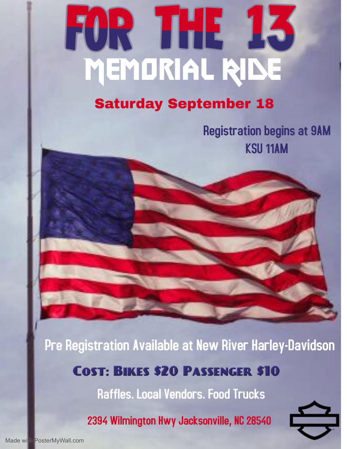 For the 13 Memorial Ride