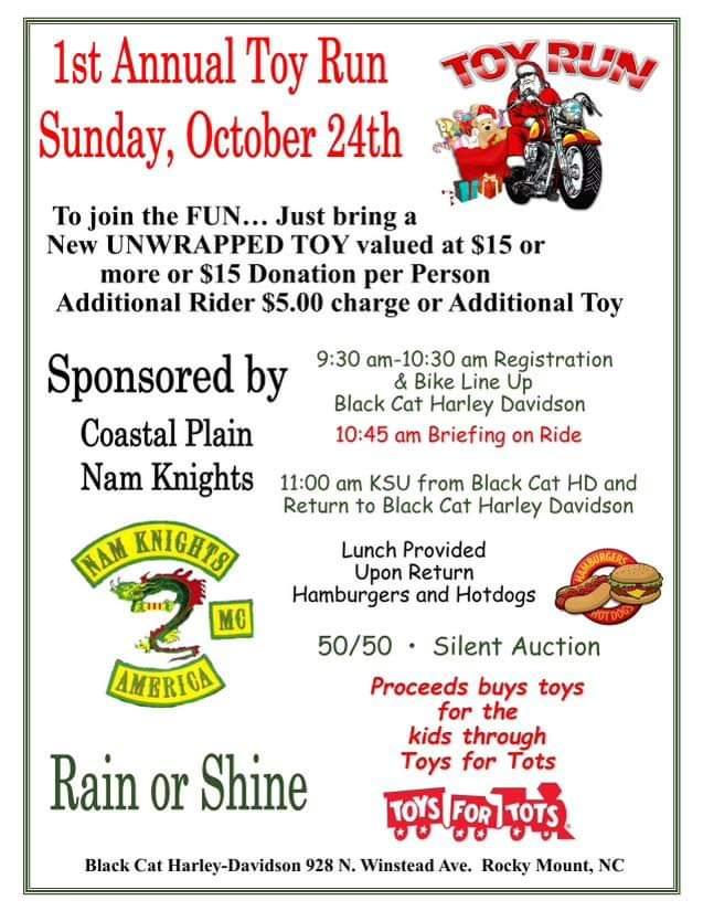 1st Annual Toy Run @ Black Cat Harley-Davidson, Rocky Mount