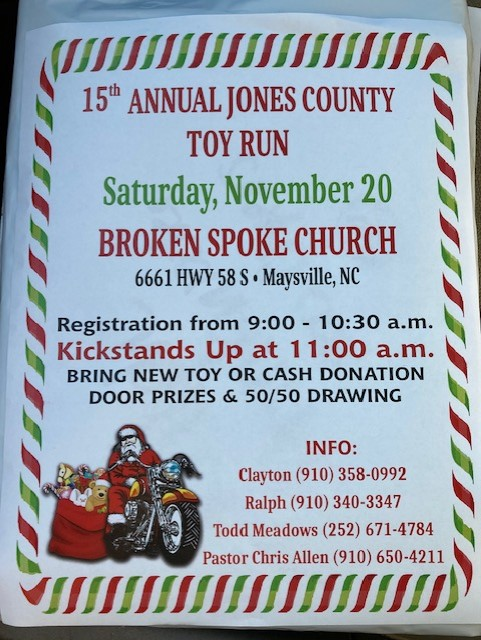 15th Annual Jones County Toy Run