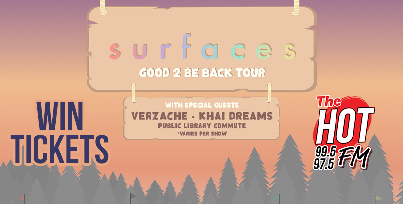 """Win Tickets To Surfaces """"Good 2 Be Back Tour"""" @ The Ritz 10/29/21!"""