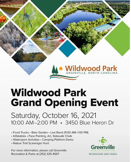 Wildwood Park Grand Opening in Greenville