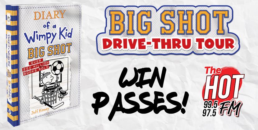 "Win Your Pass to Jeff Kinney's ""Big Shot Drive-Thru Tour"" in New Bern!"