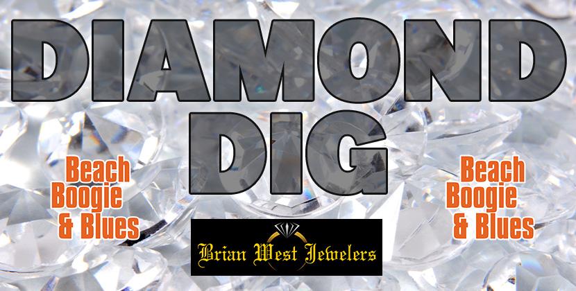 Win A FIVE THOUSAND DOLLAR DIAMOND At Beach Boogie & Blues & Brian West Jewelers Diamond Dig!