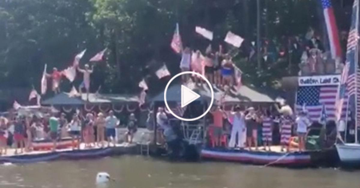 Watch: Mad Dawg Celebrates July 4th on Lake Gaston