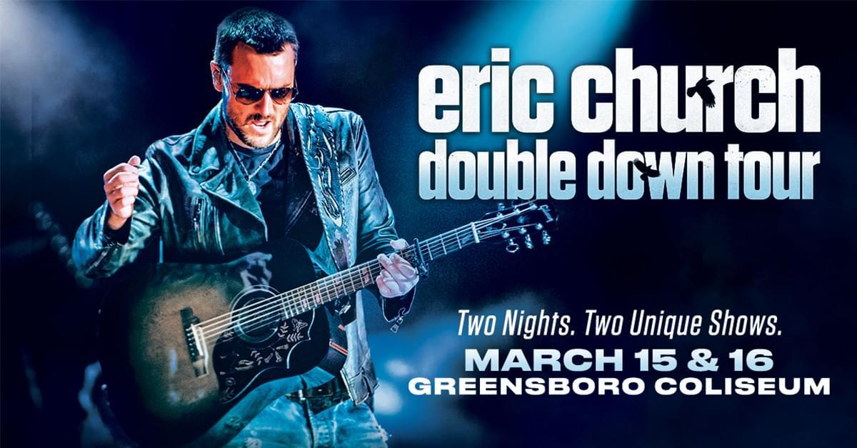 Eric Church Announces Tour, Headed to Greensboro!