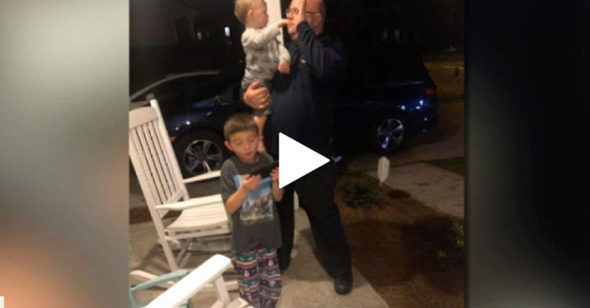 Watch: NC firefighters become impromptu babysitters