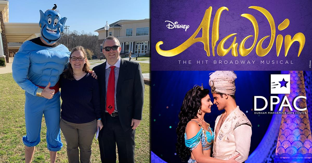 Jeremy the Genie grants Molly's wish to see Aladdin
