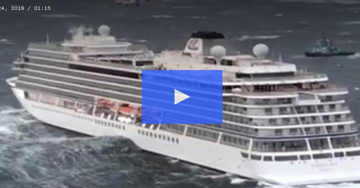 Watch: Cruise ship in Norway Evacuates Passengers after Engine Failure