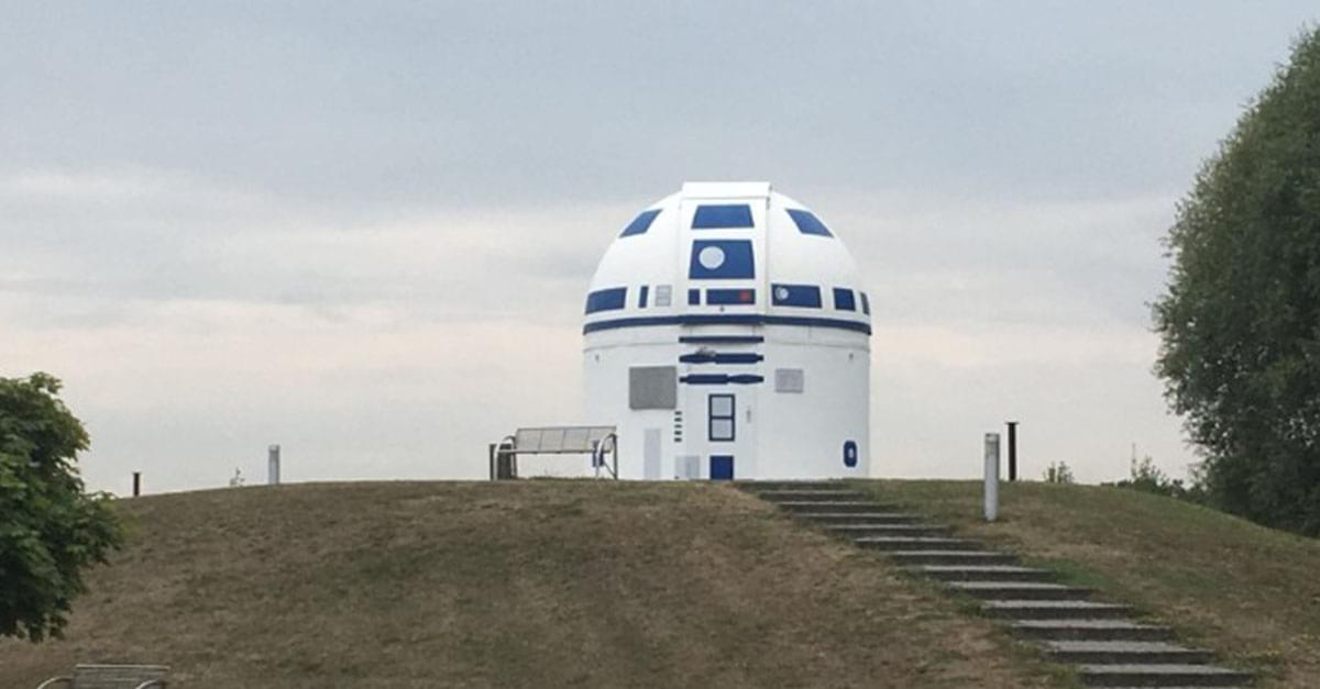 German Professor Repainted Observatory Into R2-D2