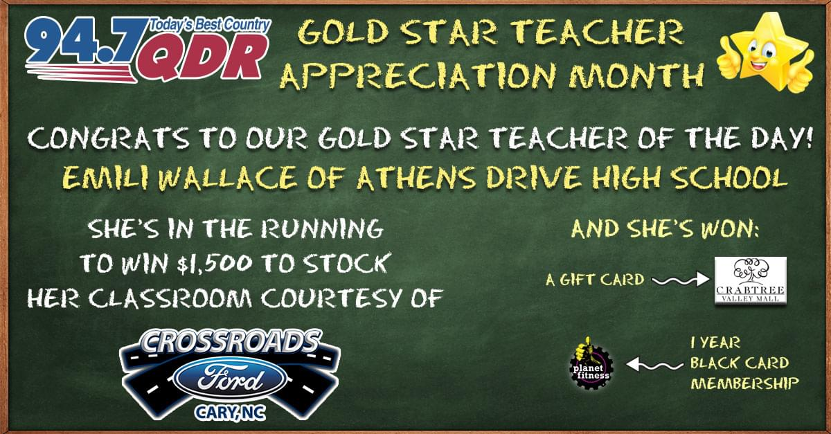 Gold Star Teacher Appreciation Month: Emili Wallace
