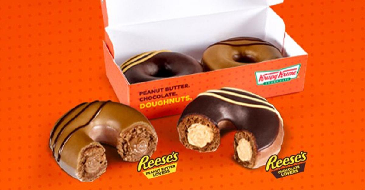 Reese's and Krispy Kreme's Lastest Colab Will Make You Drool