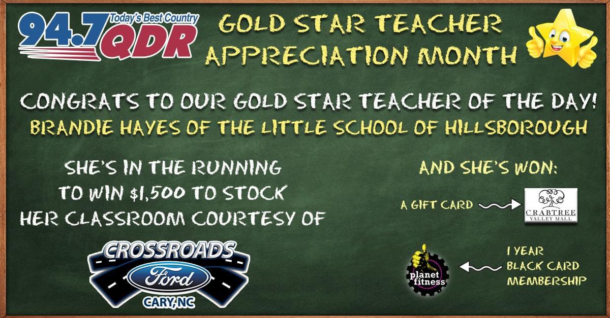 Gold Star Teacher Appreciation Month: Brandie Hayes