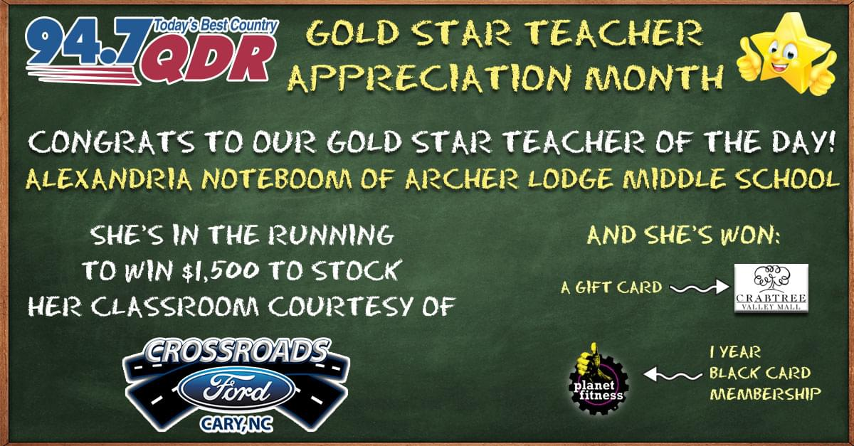 Gold Star Teacher Appreciation Month: Alexandria Noteboom