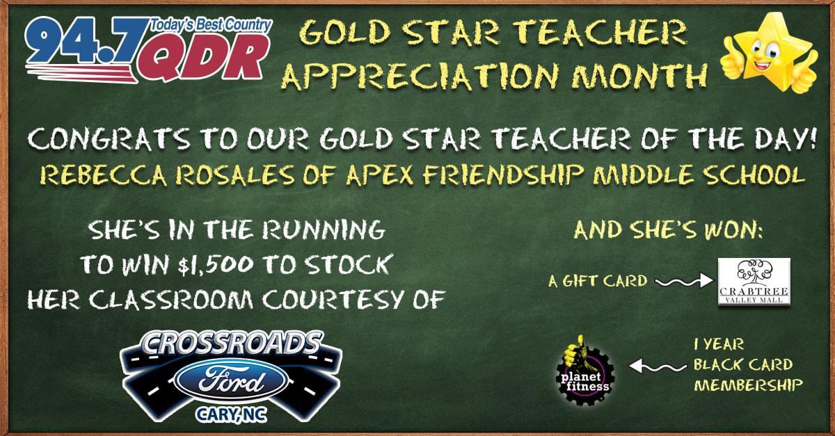 Gold Star Teacher Appreciation Month: Rebecca Rosales