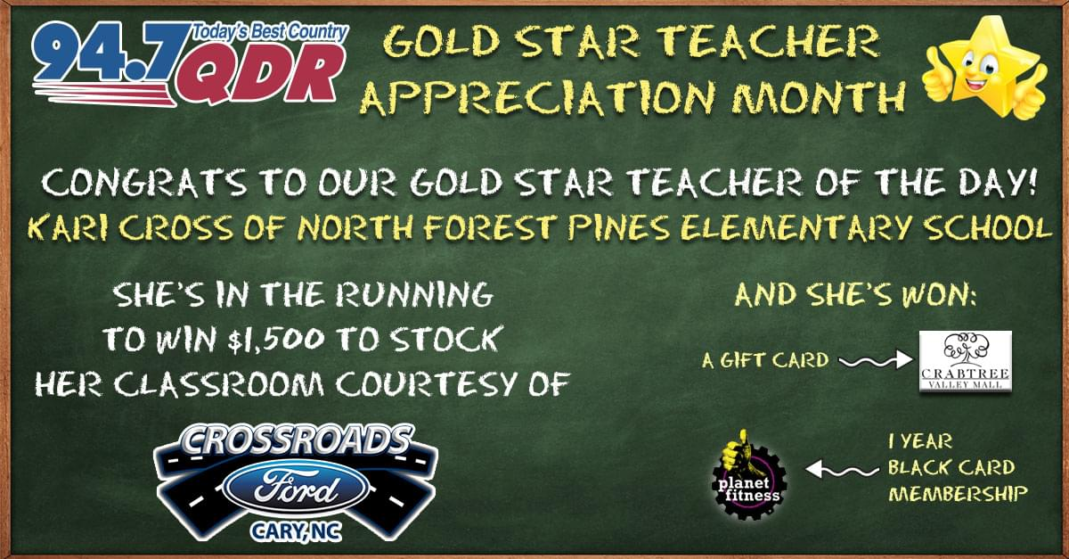 Gold Star Teacher Appreciation Month: Kari Cross