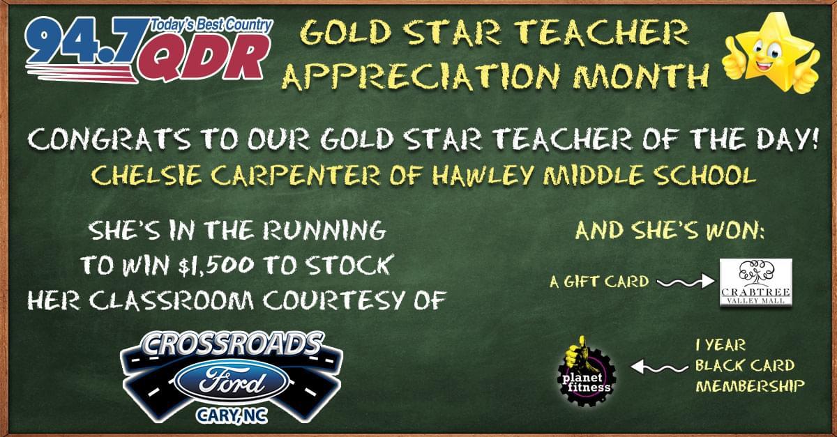 Gold Star Teacher Appreciation Month: Chelsie Carpenter