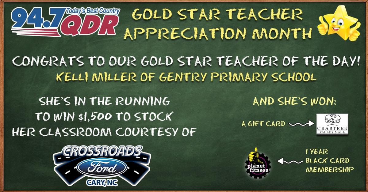 Gold Star Teacher Appreciation Month: Kelli Miller