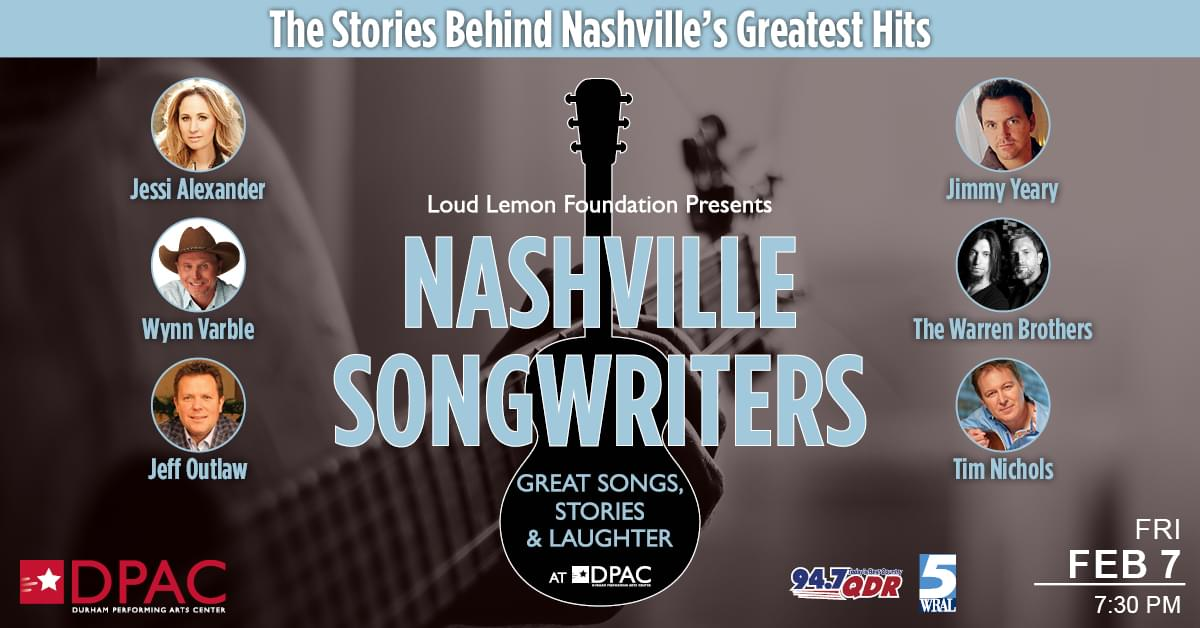 """The """"Nashville Songwriters"""" return to DPAC!"""