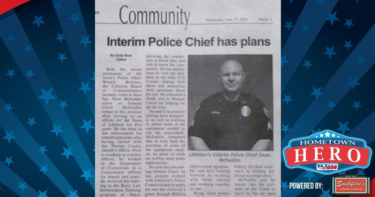 Hometown Hero November 6th: Dean McFaddin
