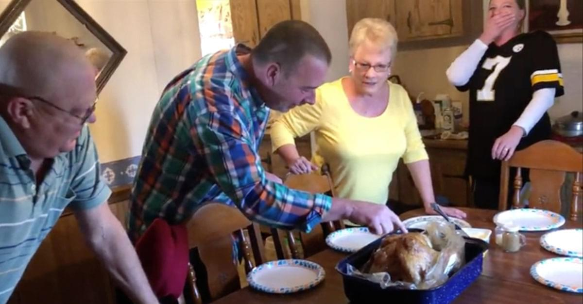 Watch: NC family's Thanksgiving Prank goes Viral