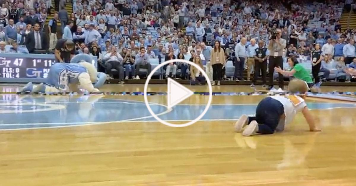 Watch: Babies Race Across UNC Stadium