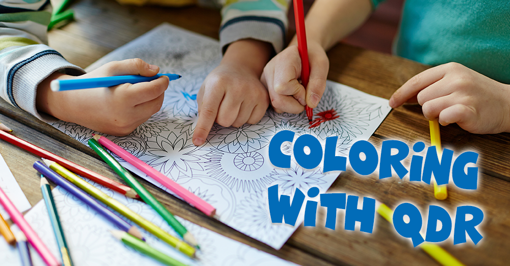 Coloring with QDR