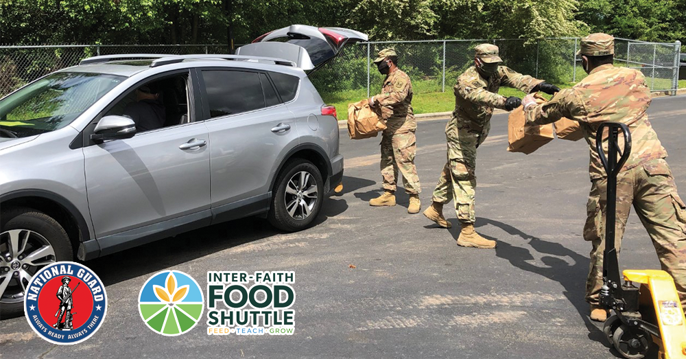 Inter-Faith Food Shuttle Partners with National Guard to Meet Community Need