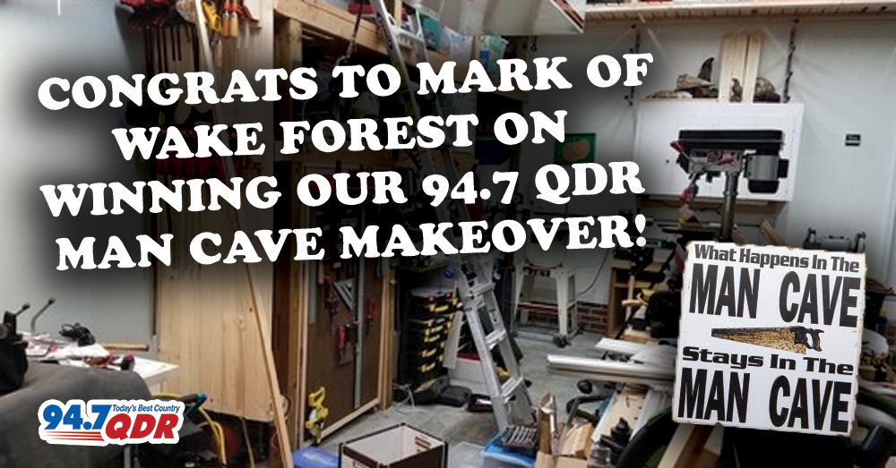 Congrats to 94.7 QDR's Man Cave Makeover Winner!