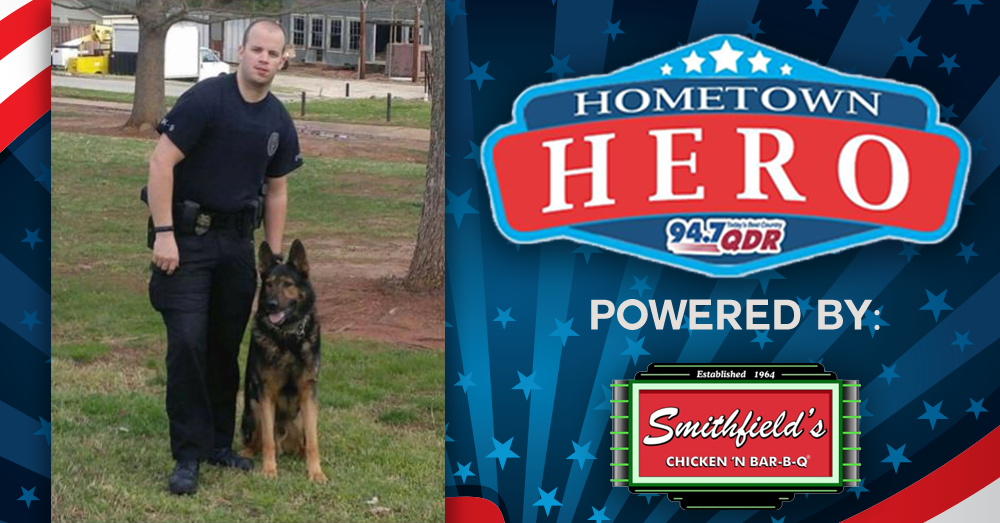 Hometown Hero July 15th: Justin Vause and K9 Major