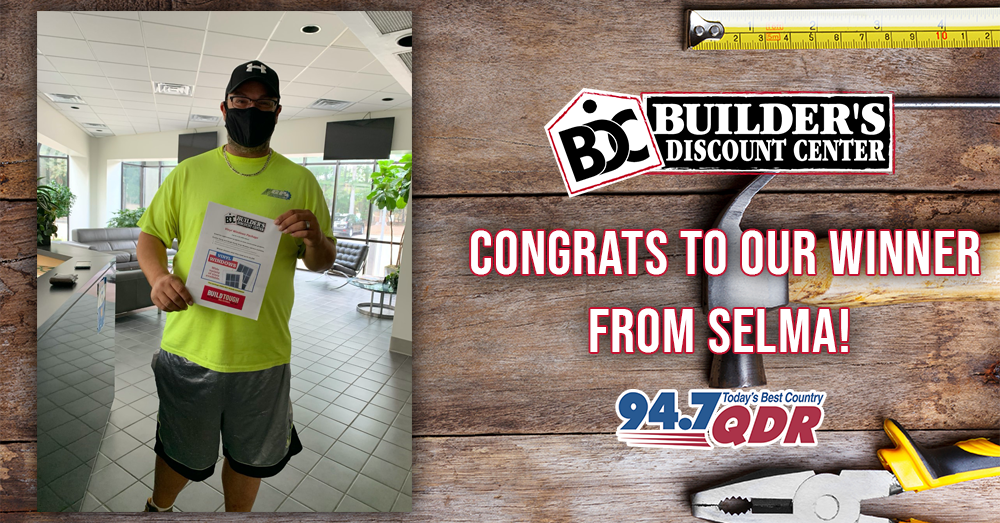 Congrats to our Builder's Discount Center Pick Your Prize winner!