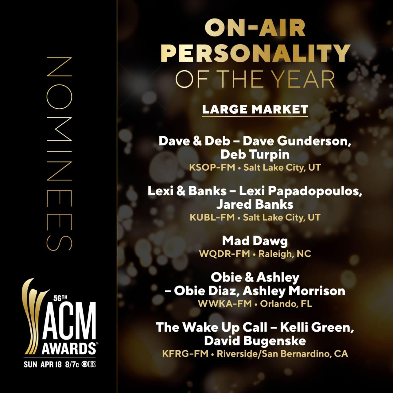 QDR and Mad Dawg Nominated for 2021 ACM Awards!   94.7 QDR