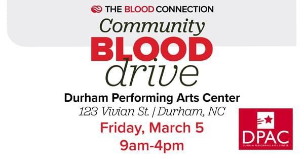 DPAC to Host a Spring Blood Drive