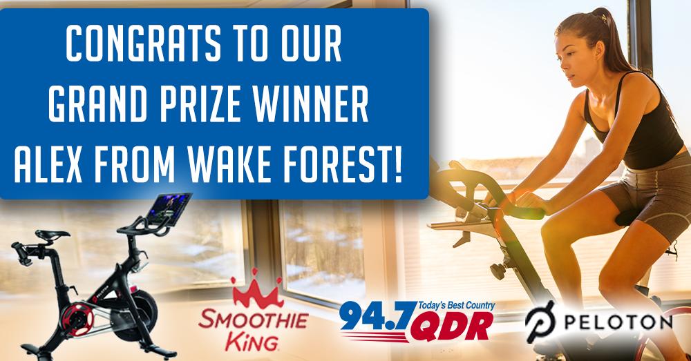 Congrats to our Grand Prize Peloton & Smoothie King Winner, Alex!