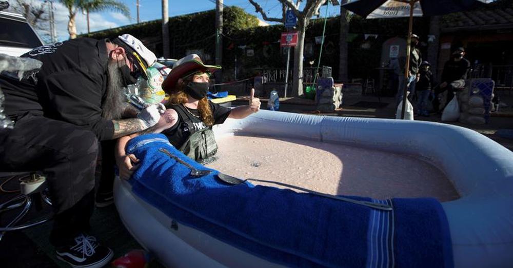 Stuntman soaks in bean dip for 24 hours to save favorite restaurant