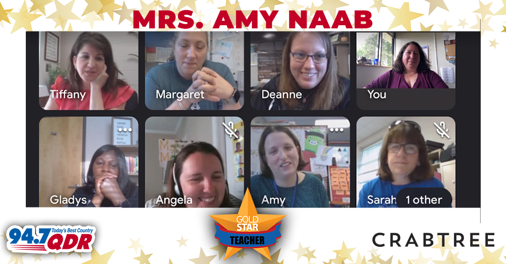 Gold Star Teacher April 2021 – Mrs. Amy Naab