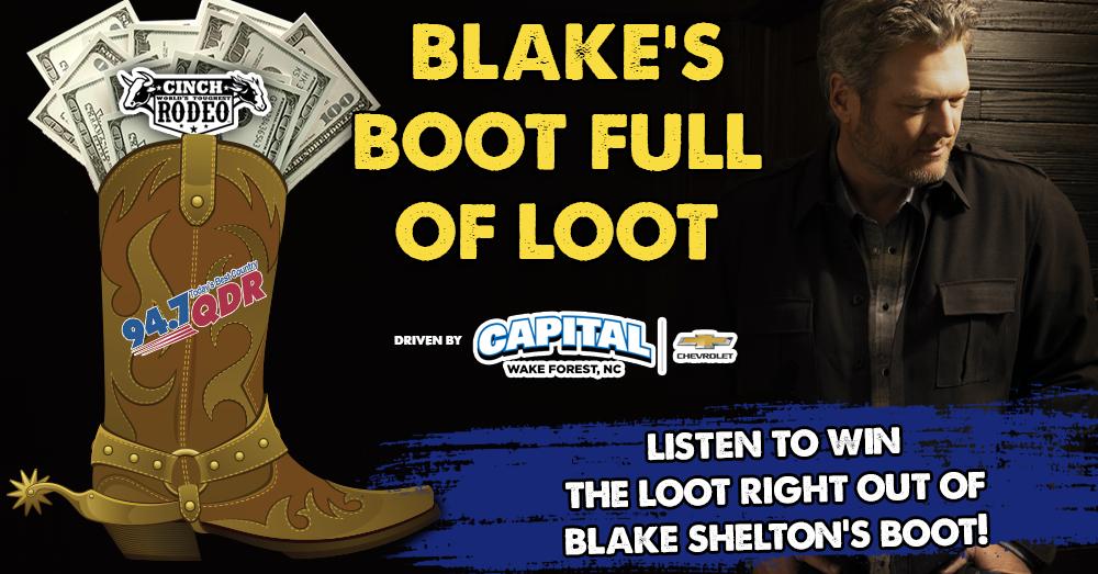 Blake Shelton's Boot Full Of Loot!