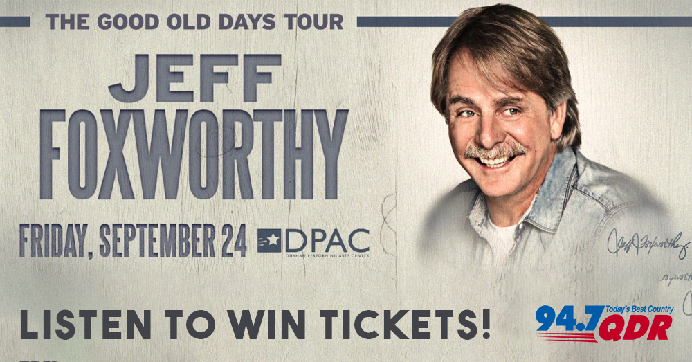 Laugh and WIN Jeff Foxworthy tickets