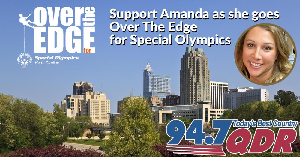 Amanda is going OVER THE EDGE for Special Olympics