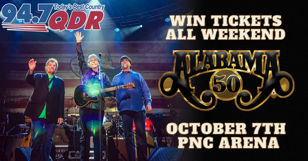 Win Tickets to see Alabama with QDR's Way Back Weekend