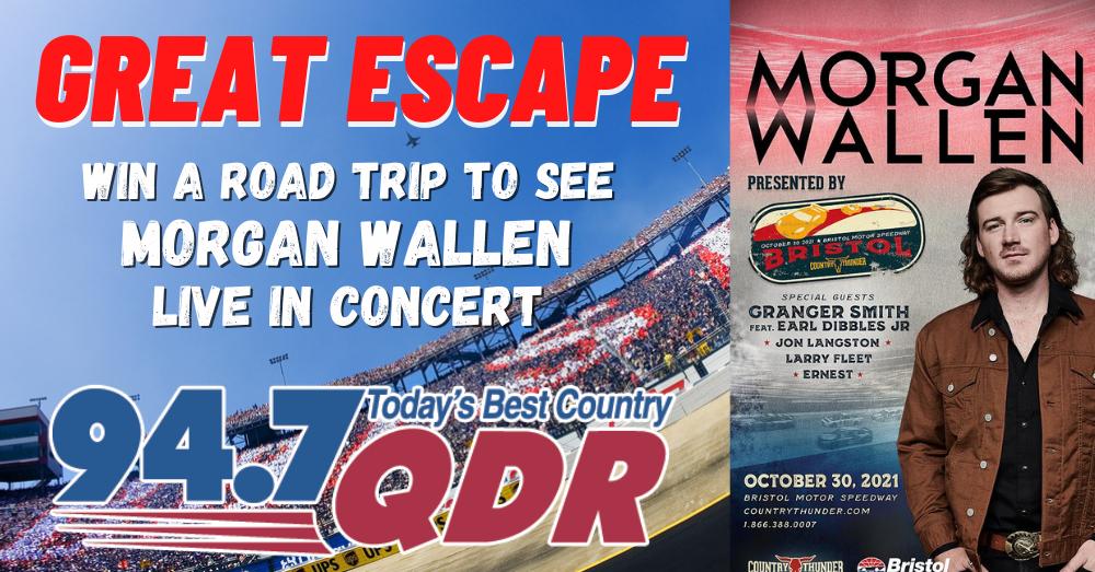 QDR Great Escape To See Morgan Wallen live at Bristol Motor Speedway