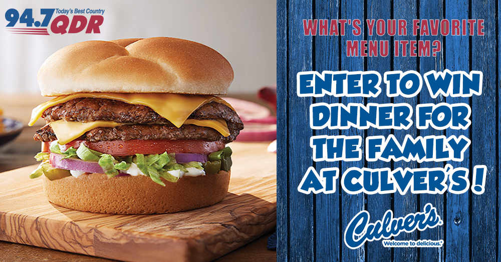Enter to Win Dinner from Culver's!
