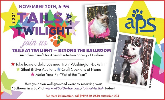 Tails at Twilight Annual Gala by the Animal Protection Society of Durham