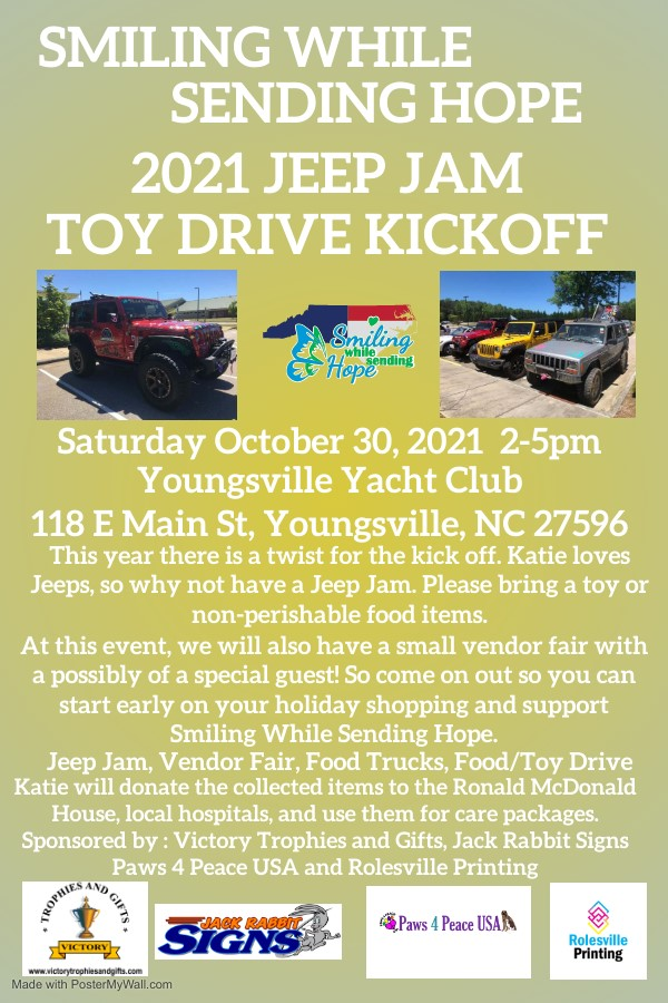 Smiling While Sending Hope: Jeep Jam Toy Drive Kick Off 2021