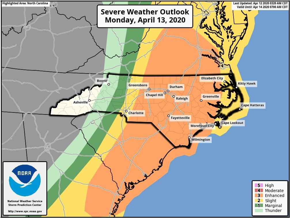 Chance For Heavy Storms Monday Morning