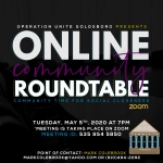 Tuesday Community Roundtable To Be Held Virtually
