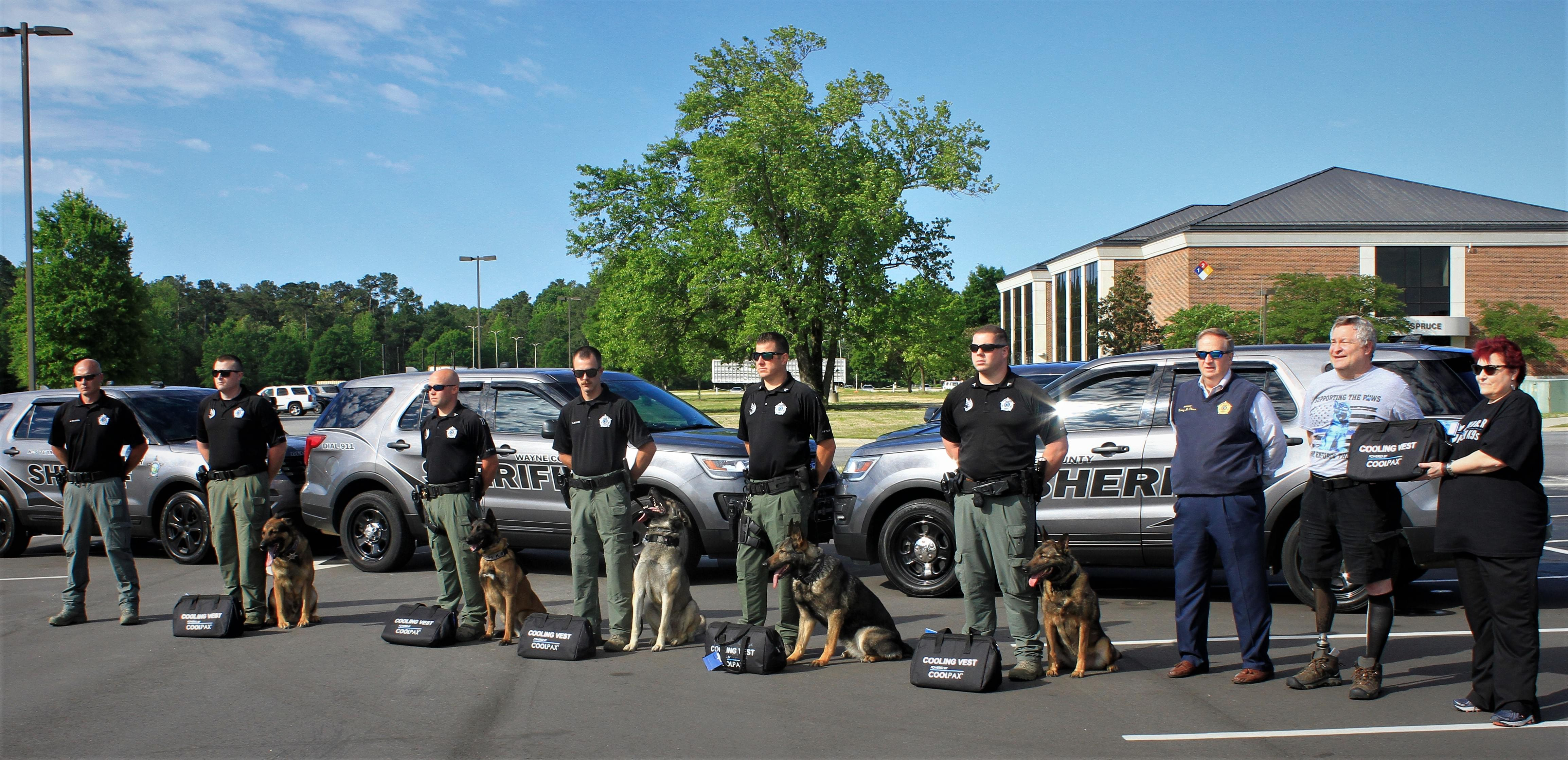 New Cooling Vests Donated To Sheriff's K-9 Units (PHOTOS)