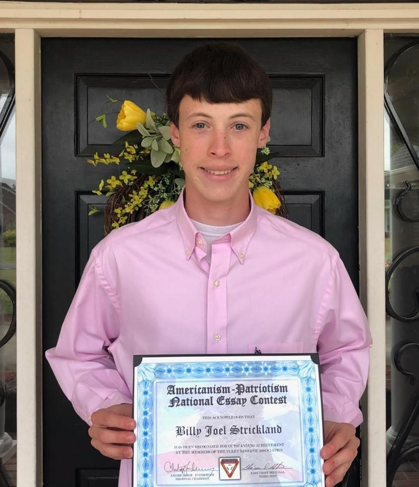 Rosewood H.S. Student Is Regional Essay Contest Winner